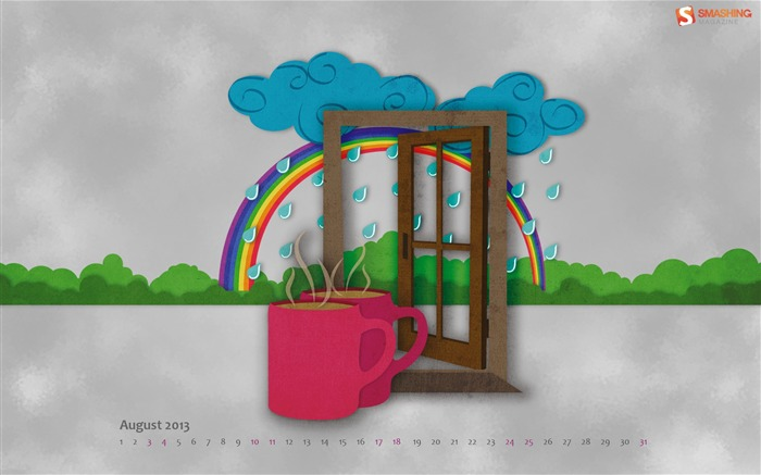 That Is Rain To Me-August 2013 calendar wallpaper Views:3481