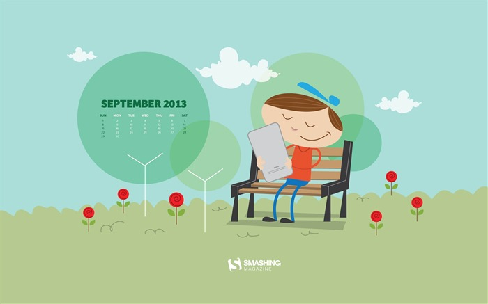 September 2013 calendar desktop themes wallpaper Views:18570