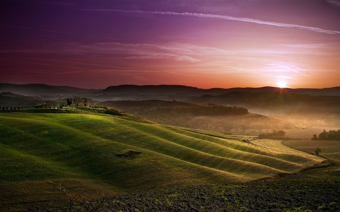 Tuscany prairie landscape theme wallpaper Views:8640