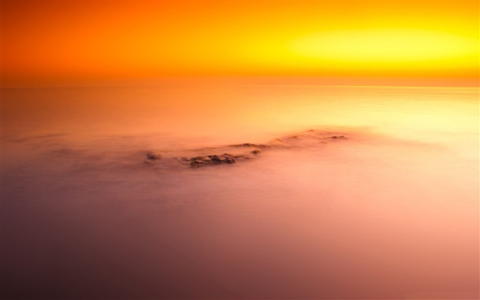 ocean and sky long exposure-Landscape Pics HD Wallpaper Views:3209