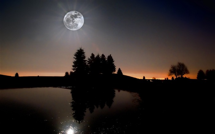 Bright moon-Mid-Autumn Festival Landscape Wallpaper 03 Views:3848