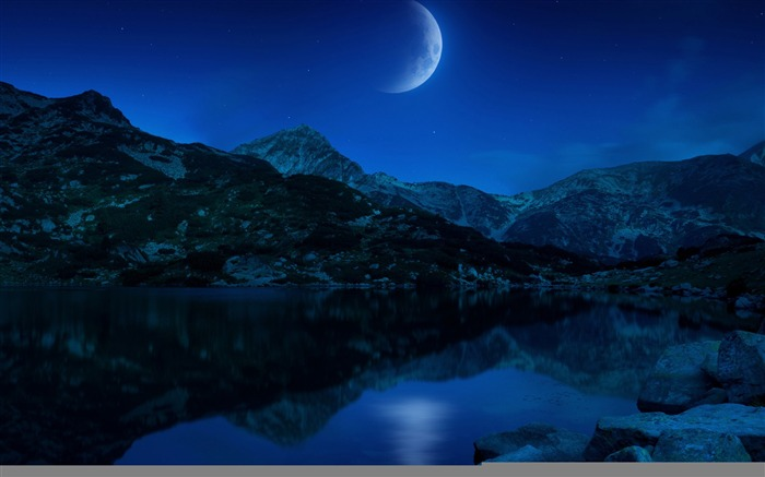 Bright moon-Mid-Autumn Festival Landscape Wallpaper 07 Views:4102