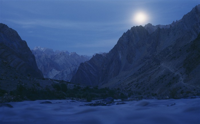 Bright moon-Mid-Autumn Festival Landscape Wallpaper 10 Views:3877