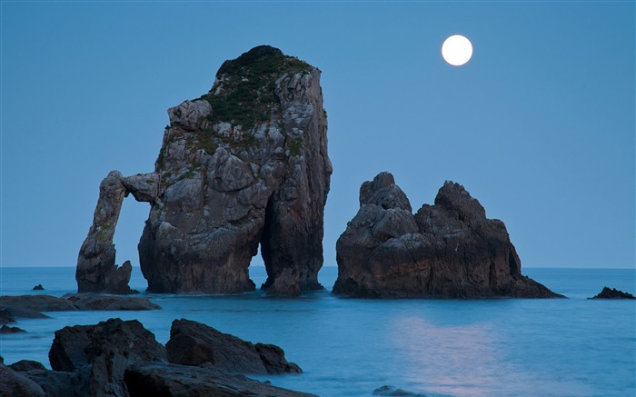 Bright moon-Mid-Autumn Festival Landscape Wallpaper 12 Views:3109