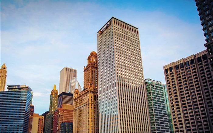 芝加哥摩天大楼-城市之旅高清壁纸