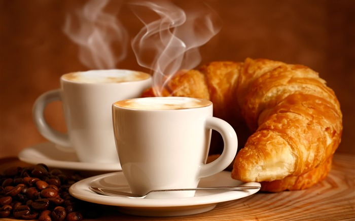 croissant drink couples-Food HD Wallpaper Views:4648