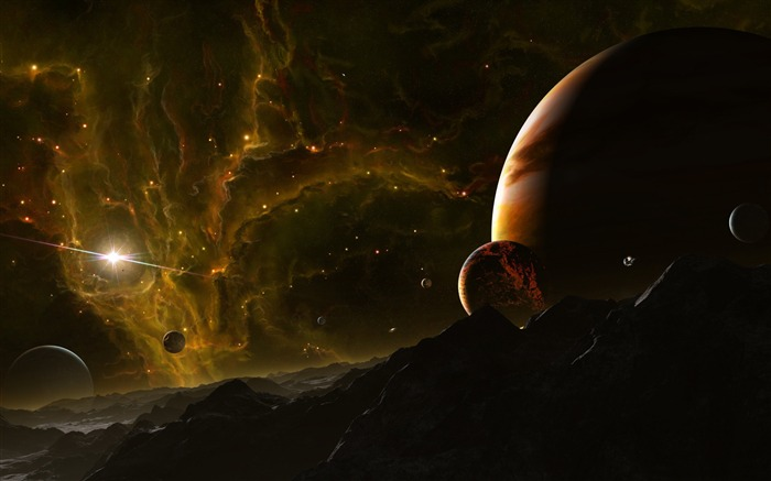 fantastic landscape-Universe HD Wallpaper Views:7445