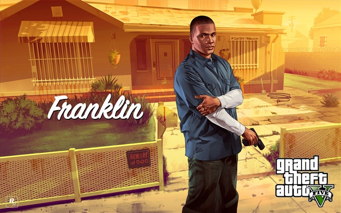 franklin-Grand Theft Auto V GTA 5 Game HD Wallpapers Views:7630