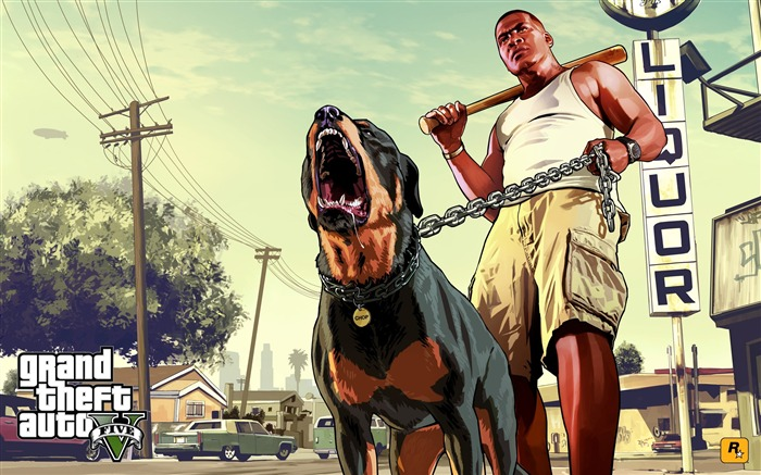 franklin chop-Grand Theft Auto V GTA 5 Game HD Wallpaper Views:7184