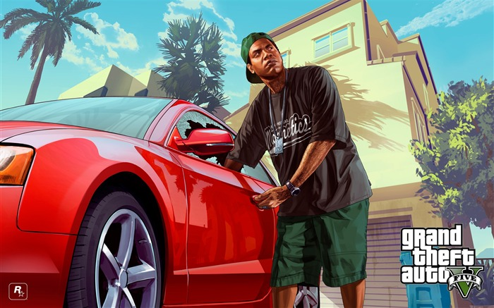 lamar-Grand Theft Auto V GTA 5 Game HD Wallpaper Views:8984