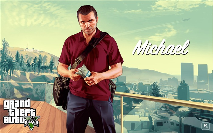 michael-Grand Theft Auto V GTA 5 Game HD Wallpapers Views:6327