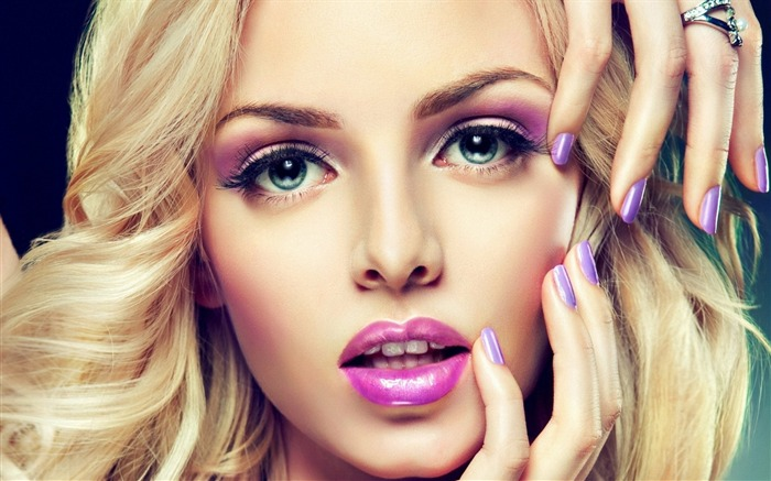 model face manicure-Beauty photo HD wallpaper Views:2214