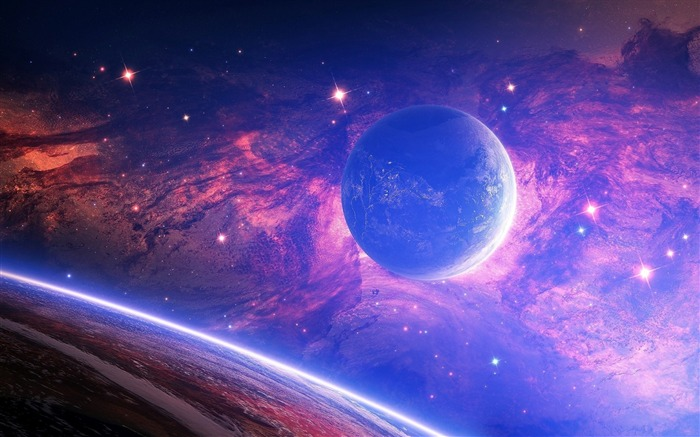 planet light spots-Universe HD Wallpaper Views:3803