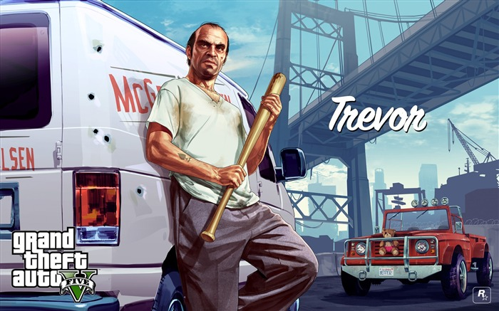 trevor-Grand Theft Auto V GTA 5 Game HD Wallpaper Views:4405