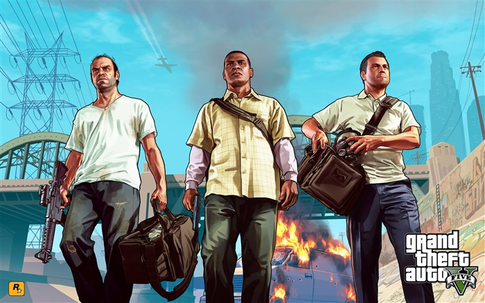 trevor franklin michael-Grand Theft Auto V GTA 5 Game HD Wallpaper Views:4001