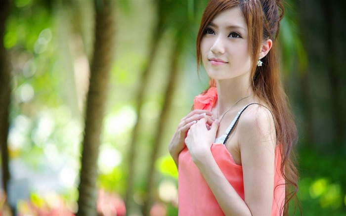 Pretty oriental pure beauty photo wallpaper Views:12928