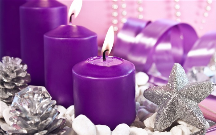 candles holiday gifts lilac-Christmas Desktop Wallpaper Views:3141