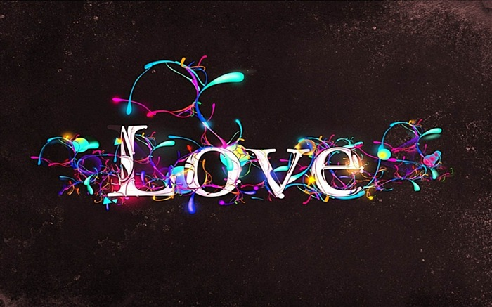 love lettering designs glow-Romantic HD Wallpaper Views:6092