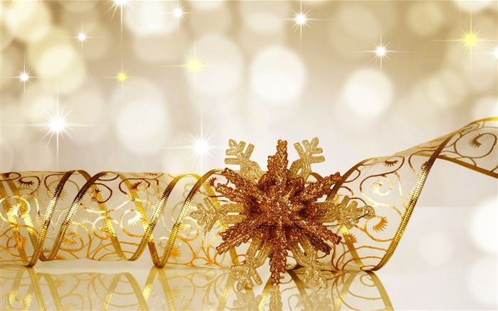 snowflake ribbon glitter-Christmas Desktop Wallpaper Views:3111
