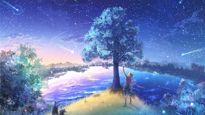 Firefly Summer romantic mood Widescreen Wallpaper 11 Views:2529