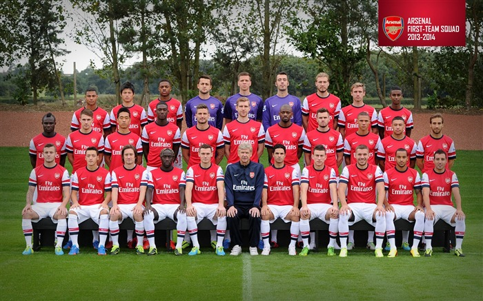 Arsenal team 2013-2014 season HD Wallpaper Views:19812