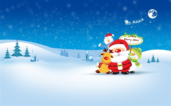Merry Christmas Holiday Theme HD Desktop Wallpaper Views:14137