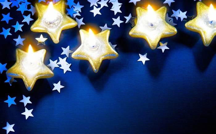 candles stars new year-holiday theme wallpaper Views:3370