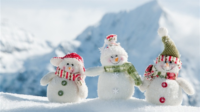 happy snowman-holiday theme wallpaper Views:5083
