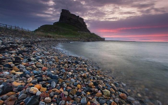 海边沙滩岩石石头-风景高清桌面壁纸 预览