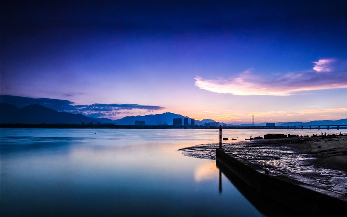 China Coast sunrise landscape photography wallpaper Views:7836