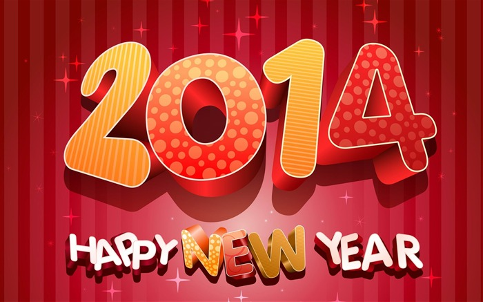 Happy New Year 2014 theme desktop Wallpapers Views:13825