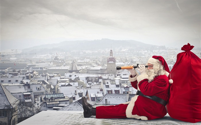 Santa claus is coming-Festival theme wallpaper Views:2434