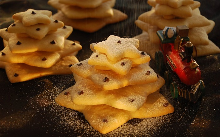 christmas biscuit trees-Holiday theme HD Wallpapers Views:3011