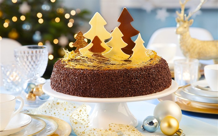 holiday christmas new year dessert cake-Holidays wallpaper Views:3967