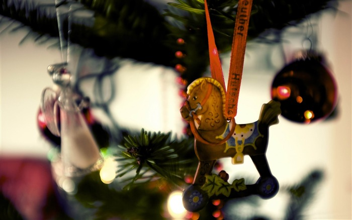 horse christmas tree decoration-Holiday theme HD Wallpapers Views:3037