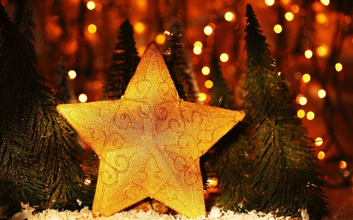 new year christmas trees star-Holidays wallpaper Views:2745