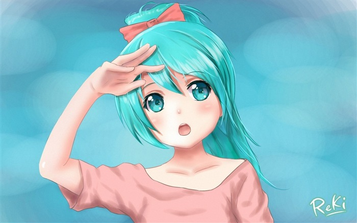 vocaloid hatsune miku girl-HD Desktop Wallpaper Views:3654
