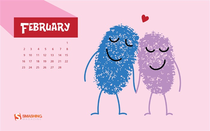 February 2014 calendar desktop themes wallpaper Views:14028