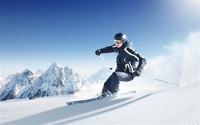 Skiing Extreme Sports HD Desktop Wallpapers Views:21357