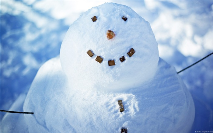 Smiling snowman-Windows HD Wallpaper Views:2279