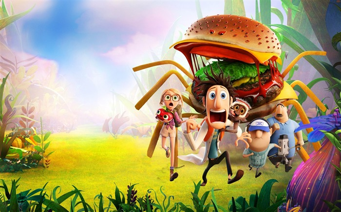 cloudy with a chance of meatballs-Movie HD Wallpaper Views:3488