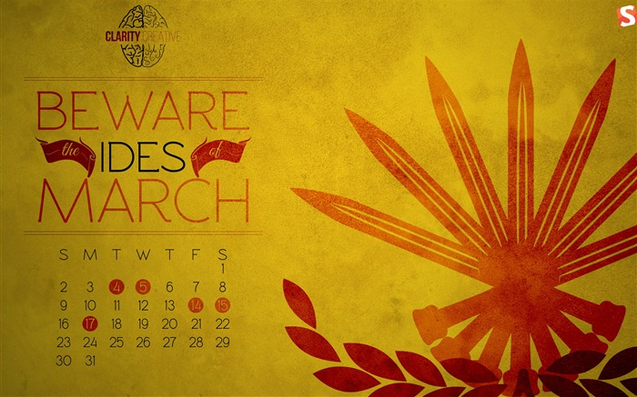 Ides of March-March 2014 calendar wallpaper Views:3752