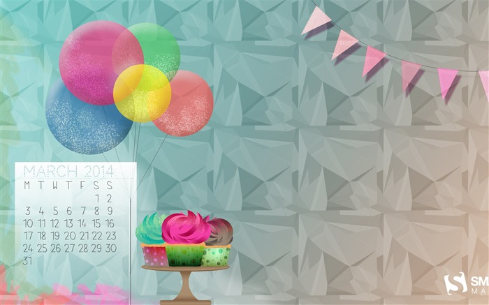 Its Always Someones Birthday-March 2014 calendar wallpaper Views:2985
