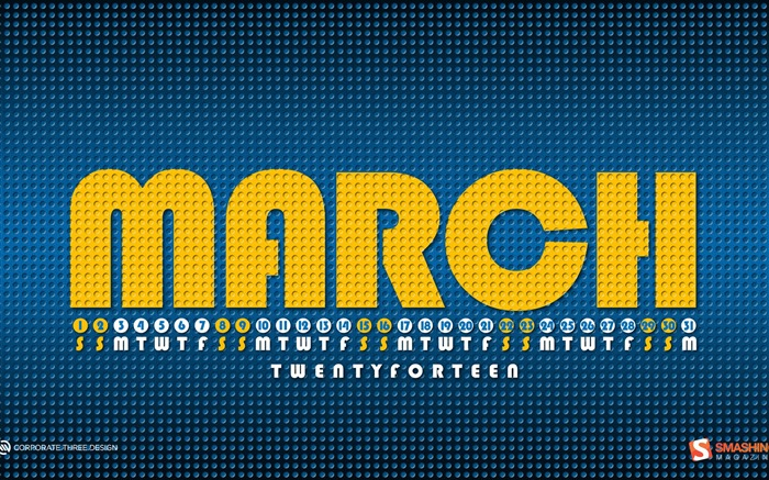 March 2014 calendar desktop themes wallpaper Views:10200