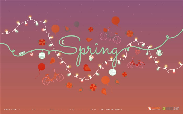 Lovely Spring Afternoon-March 2014 calendar wallpaper Views:2980