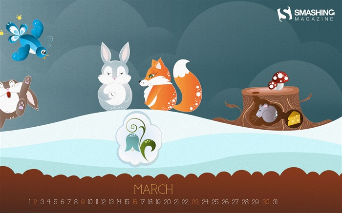 Spring Is Here-March 2014 calendar wallpaper Views:1530