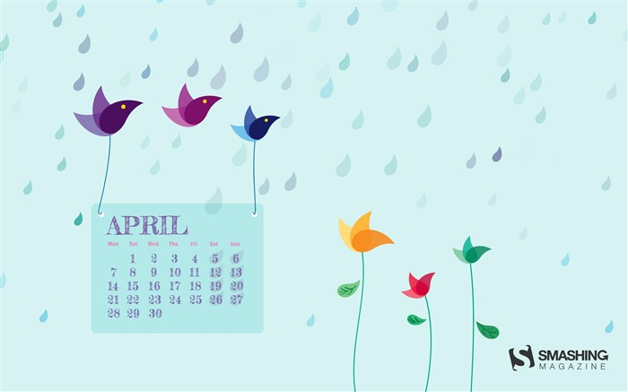 April 2014 calendar desktop themes wallpaper Views:12930