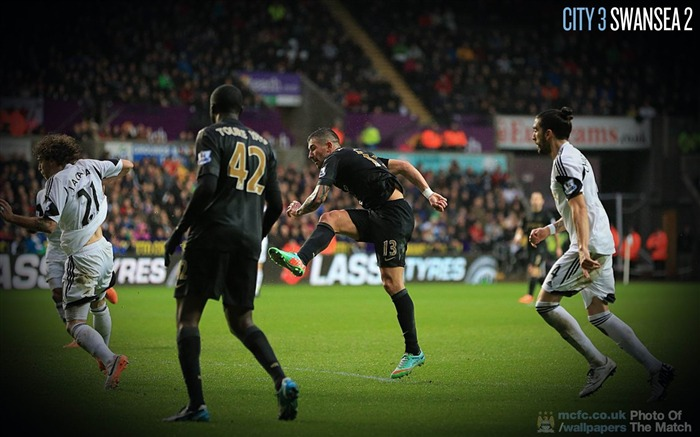 Swansea 2-3 Manchester City-Sport Wallpaper Views:1761