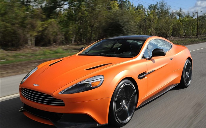 Aston Martin Vanquish Orange-Car HD wallpaper Views:2887