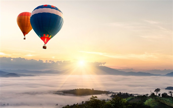 Hot air balloons in the sky-HD Photo Wallpaper Views:3477